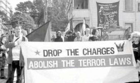 New Zealand solidarity demo in support of Maori and anarchist defendants