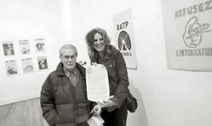 Federico Arcos with Julie Herrada at 'Unthinkable' exhibit, 2012