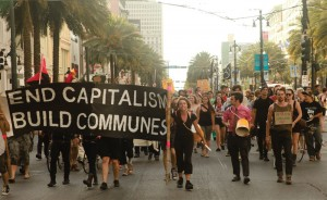 New Orleans 2012, Anarchists lead the way in a May Day march