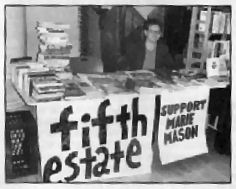 Fifth Estate/Support Marie Mason table at the 5th annual New York City Anarchist Book Fair