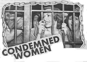 Poster from a 1938 grade-B movie where the heroine joins a jail-break that turns into a riot