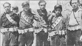 Milicia column at the Bakunin Barracks, Barcelona 1936