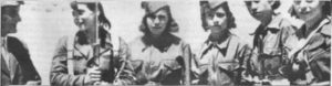 Milicia women at the Madrid front, 1936