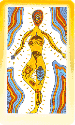 """The World"" from Pollack's Shining Tribe Tarot deck"