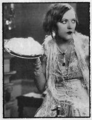 Pie in face, still from silent movie