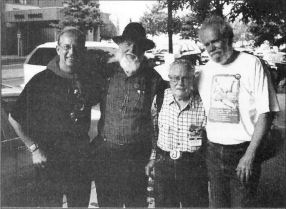 Utah Phillips, Len Wallace, Charlie King, Federico Arcos