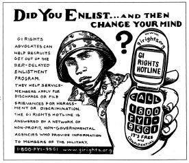 "Leaflet, ""Did you enlist and then change your mind?"""