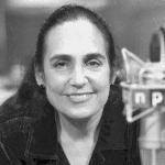 Margot Adler, 1946-2014, at an NPR mic.