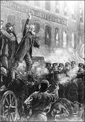 Haymarket rally, Chicago, 1886