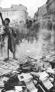 Scene from the 1956 Hungarian revolution