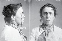 Emma Goldman's mug shot