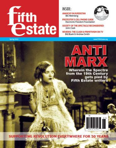 Cover, Fifth Estate Magazine, Spring 2015