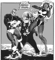 "Cartoon, ""Don't you understand, Colossus? We're your FRIENDS!"""