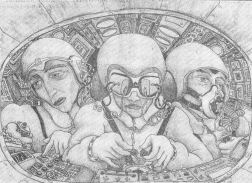 Hear no evil; see no evil; speak no evil Drawing / Stephen Goodfellow