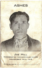 Packet of Joe Hill's ashes