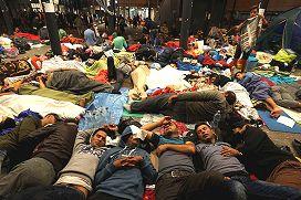 Photo, Syrian refugees, Hungary, September 2015