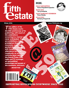 Cover, Fifth Estate issue 395, Winter 2016