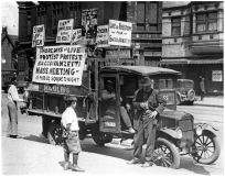Photo, part of the campaign in the 1920s to save Sacco and Vanzetti from execution