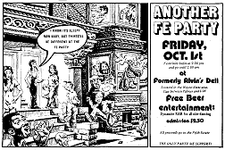 Ad for FE benefit party, October 1, 1976