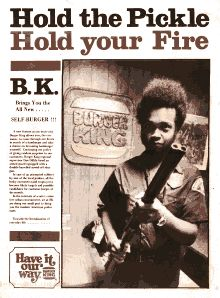 "Back cover image, ""Hold the pickle, hold your fire."""
