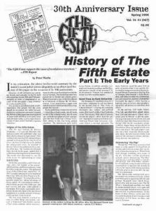 cover image, Issue 347, Spring, 1996 - Fifth Estate Magazine