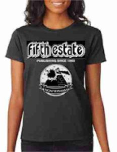 image, Fifth Estate t-shirt, black