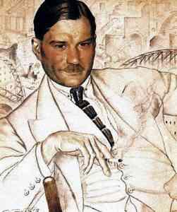Yevgeny Zamyatin by Boris Kustodiev (1923)
