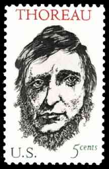 image, Henry David Thoreau stamp, 1967