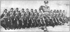 photo, Cuban army goose-stepping