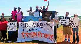 Solidarity with striking prisoner workers at Holman Prison, Atmore, Ala., Sept. 2016