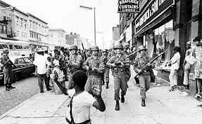 Detroit 1967, military intervention to end rebellion