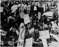 Welcome Muskie protest, Detroit, September 26, 1968