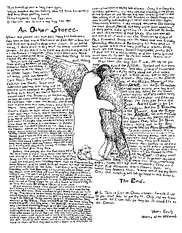 "Image of hand-written text ""An Other Storee"" printed in Issue 325, Spring, 1987, page 11. Text is rendered in HTML on this page."