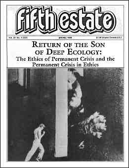 Cover image, Issue 331, Spring 1989 - Fifth Estate Magazine