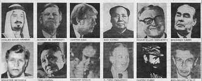 Poster shows mug shots of 12 top politicians and other influential power-holders; names are given in the article.