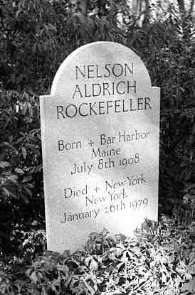 photo, Tombstone of Nelson A. Rockefeller