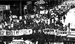 photo of anti-nuke demonstration, Midland, Michigan, 1979