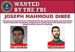 FBI wanted poster showing two mug shots of Joseph Mahmoud Dibee