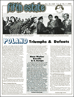 Cover image, issue 303, October 20, 1980, features images of Polish worker revolt and political scene.