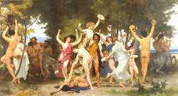 "Image of painting, ""La Jeunesse de Bacchus"" (The Young Bacchus) by William Bouguereau 1884"