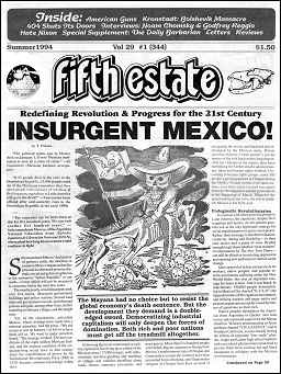 Cover image, Issue 344, Summer, 1994, Headline reads, Insurgent Mexico