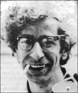 photo shows a smiling Fredy Perlman smoking a cigarette