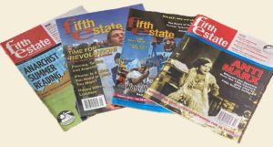 Composite image of covers of 4 Fifth Estate back issues